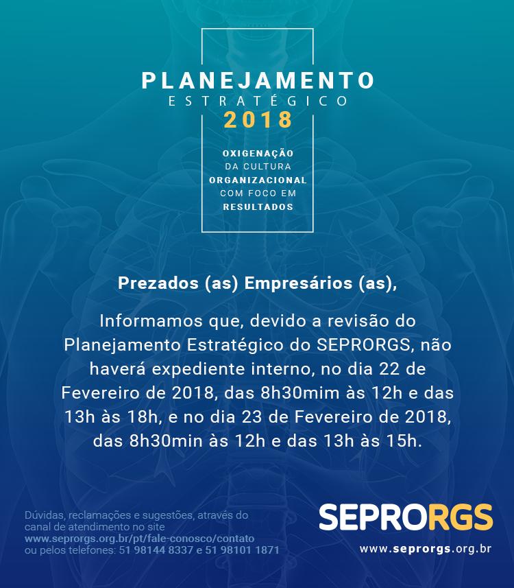 EXPEDIENTE ESPECIAL PARA PLANEJAMENTO ESTRATÉGICO